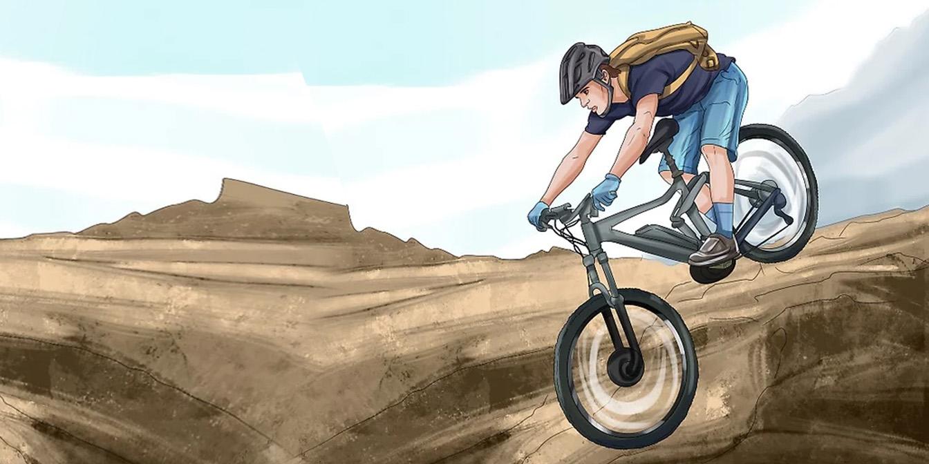 مهارت دوچرخه سواری در شیب